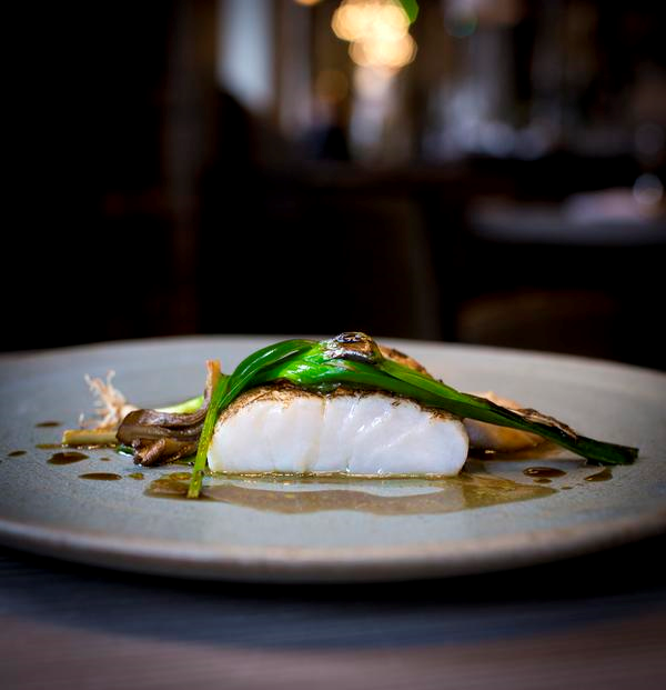 Adam Reid Halibut with hen of the wood - The French