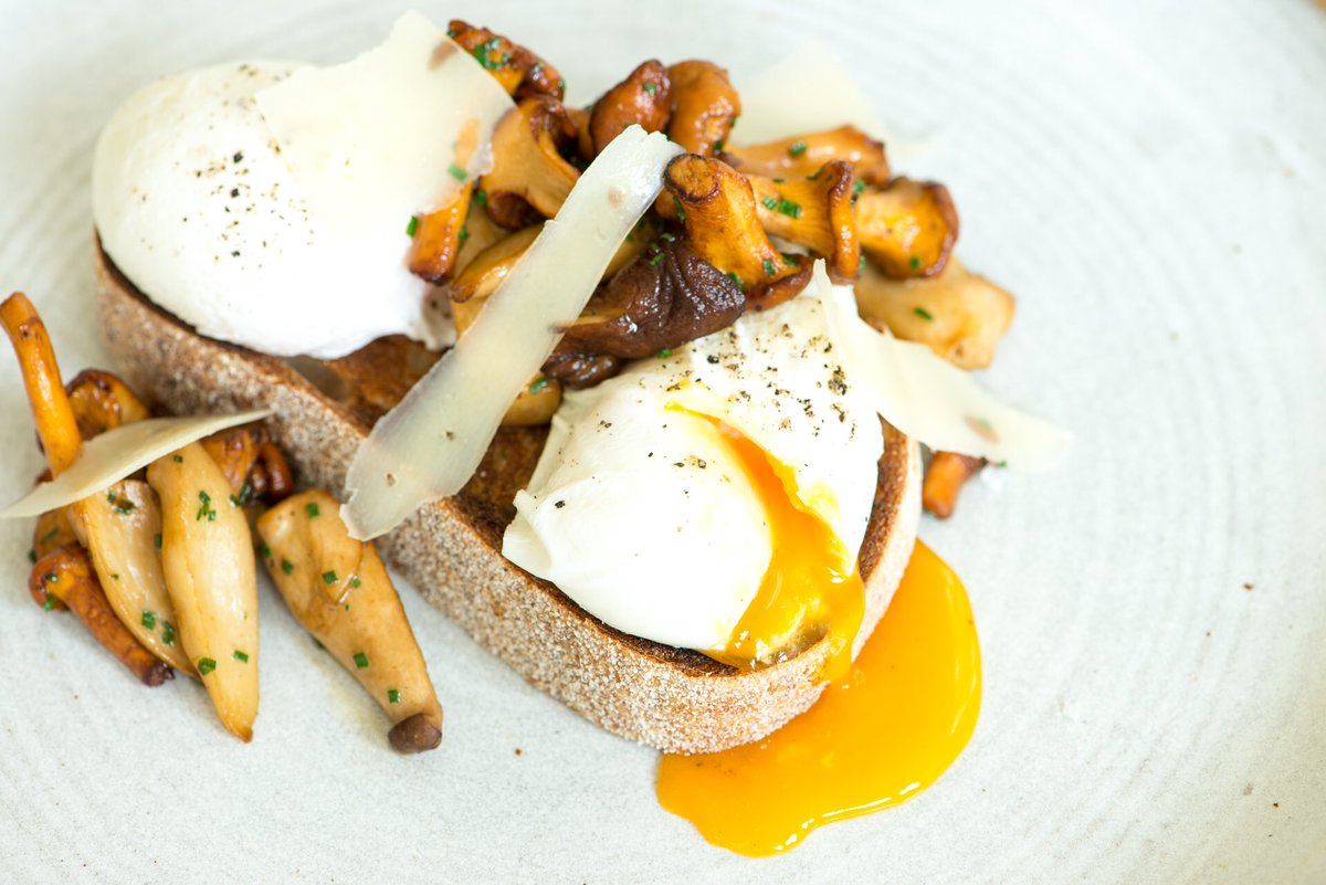 Mushrooms and poached egg on toast - Kevin Tickle - Forestside Hotel